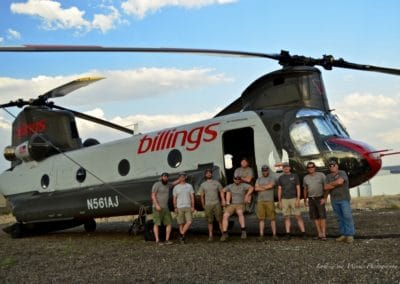 BFS CH-47D crew outside helicopter