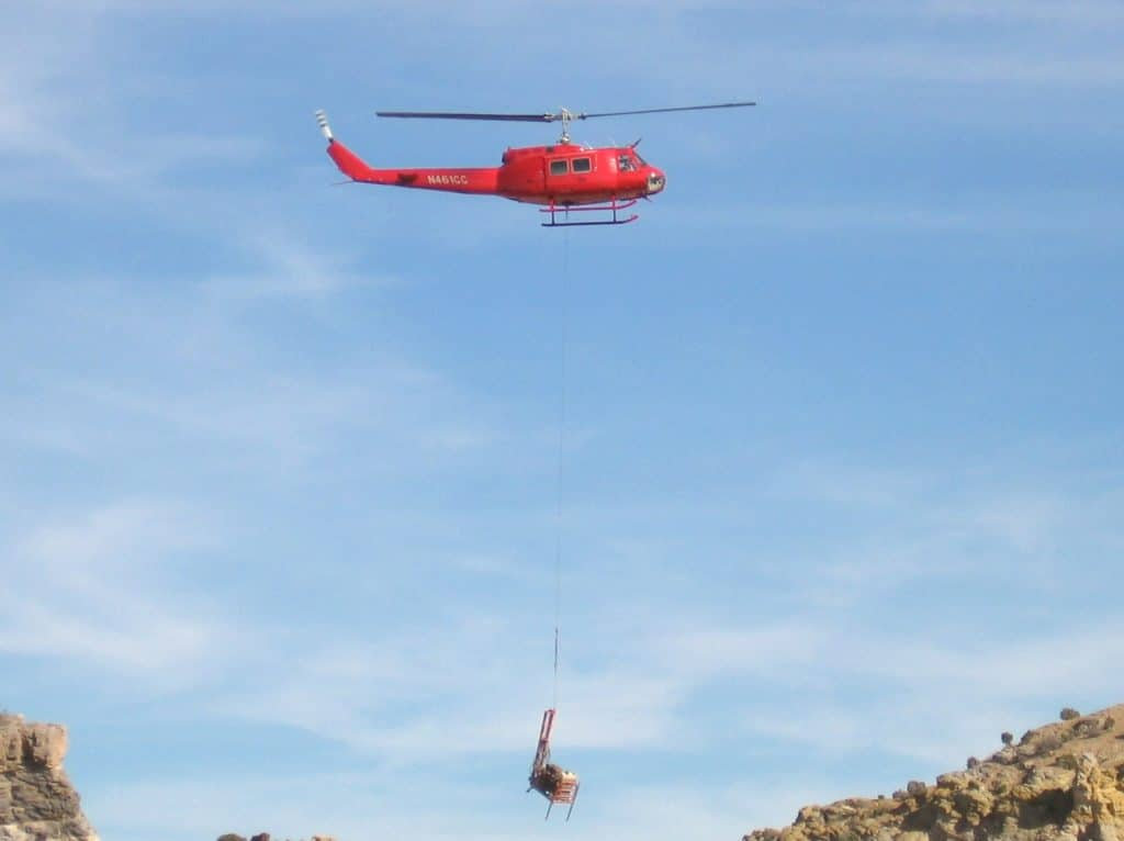 Heavy Lift Helicopter testing lift capacity