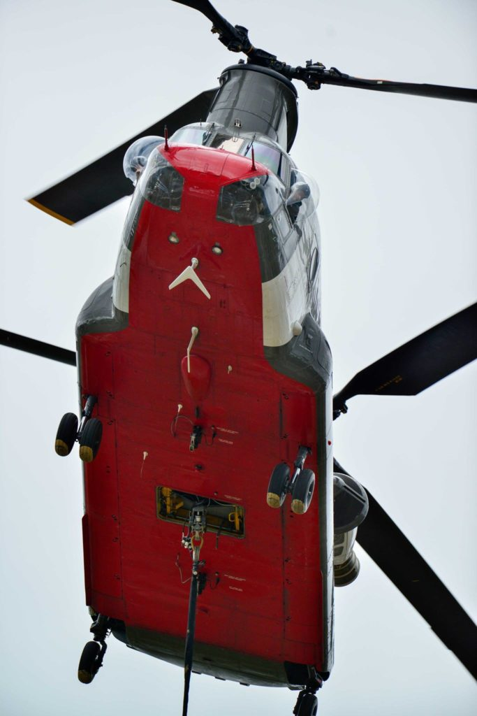 Cargo hook used by CH-47 in heavy lift helicopter missions