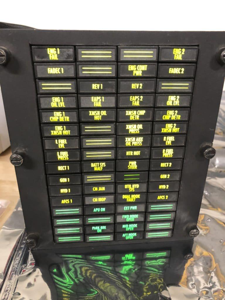 Chinook Master Caution Panel
