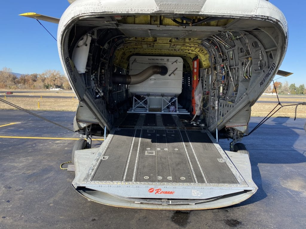 Cargo Space of CH-47 Chinook Helicopter